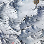A zoomed in look at Midgard mountains.