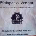 Back of T-shirt - Whisper & Venom