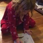 Daughter hard at work.
