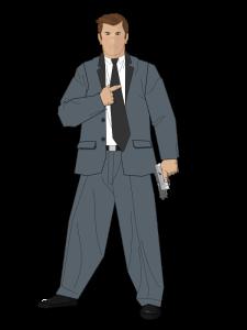 Spy with Gun