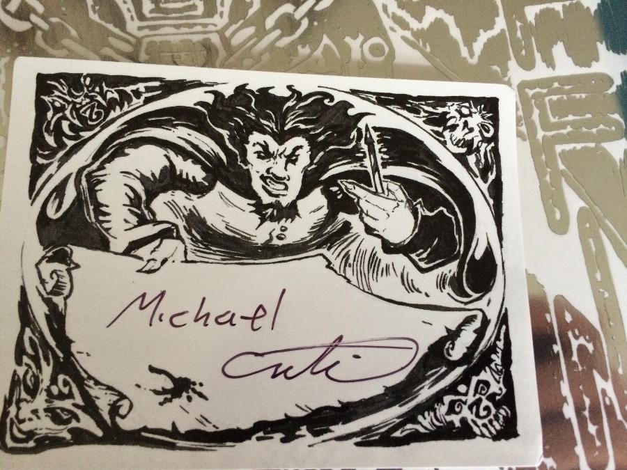 Michael's signature.